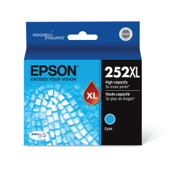 Epson® DuraBrite® Ultra T252XL220-S High-Yield Cyan Ink Cartridge