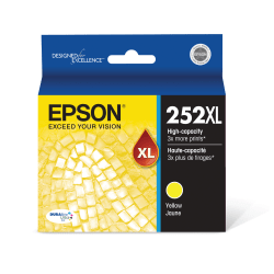 Epson® 252XL DuraBrite® Ultra High-Yield Yellow Ink Cartridge, T252XL420-S