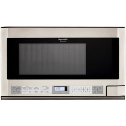 Sharp® R1214T 1.5 Cu Ft Over-The-Range Microwave, Stainless Steel