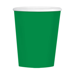 Amscan Hot/Cold Paper Cups, 12 Oz, Festive Green, Pack Of 40 Cups, Case Of 4 Packs