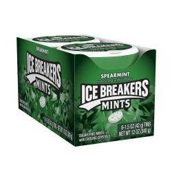 Ice Breakers® Sugar-Free Mints, Spearmint, 1.5 Oz, Box Of 8