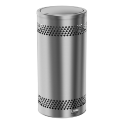 Suncast Commercial Accent Series Flip-Top Stainless-Steel Trash Can, 15 Gallons, Silver