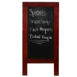 """Mind Reader Restaurant Chalkboard Sign, Wood, 40-1/4""""H x 20""""W x 27-1/2""""D, Black, Brown Wood Frame"""