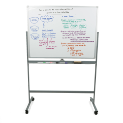 """Mind Reader® Rolling Magnetic Dry-Erase Whiteboard, 73"""" x 49 1/4"""", Aluminum Frame With Silver Finish"""