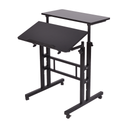 "Mind Reader 27""W 2-Tier Sit And Stand Desk, Black"