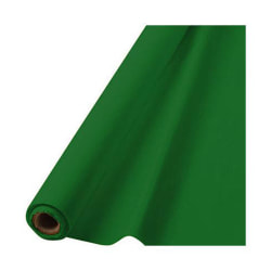 """Amscan Plastic Table Cover Roll, 100' x 40"""", Festive Green"""