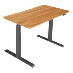 "Vari Electric Standing Desk, 48""W, Butcher Block"