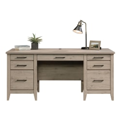 "Sauder® Summit Station 66""W Executive Desk, Laurel Oak"