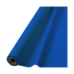 """Amscan Plastic Table Cover Roll, 100' x 40"""", Royal Blue"""
