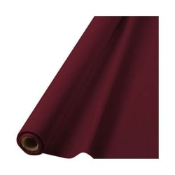 """Amscan Plastic Table Cover Roll, 100' x 40"""", Berry"""