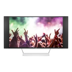 """HP Envy 32"""" QHD LED LCD Monitor With Speakers, White/Jack Black/Natural Silver"""