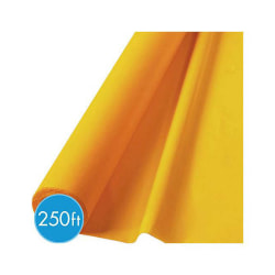 "Amscan Plastic Jumbo Table Roll, 40"" x 250', Sunshine Yellow"
