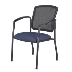 WorkPro® Spectrum Series Antimicrobial Vinyl Stacking Guest Chair, With Arms, Grape/Black