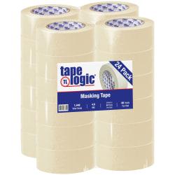 "Tape Logic® 2200 Masking Tape, 3"" Core, 2"" x 180', Natural, Case Of 24"