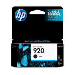 HP 920, Black Original Ink Cartridge (CD971AN)