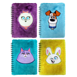 """Inkology Secret Life Of Pets Plush Journals, 5-7/8"""" x 8-1/4"""", Wide Ruled, 60 Pages (120 Sheets), Assorted Colors, Pack Of 8 Journals"""
