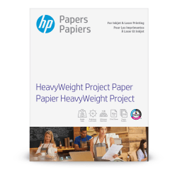 "HP Heavyweight Project Paper, Letter Size (8 1/2"" x 11""), 95 Brightness, 40 Lb, 250 Sheets (Z4R14A)"