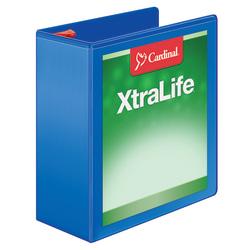 "Cardinal® XtraLife™ Locking Slant-D® Ring 3-Ring Binder, 4"" D-Rings, 55% Recycled, Blue"