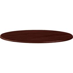 "HON® 42"" Round Conference Table Top, Mahogany"