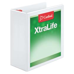 """Cardinal® XtraLife™ Locking Slant-D® Ring 3-Ring Binder, 4"""" D-Rings, 55% Recycled, White"""