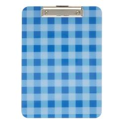 "Office Depot® Fashion Clipboard, 9"" x 12-1/2"", Blue Plaid"