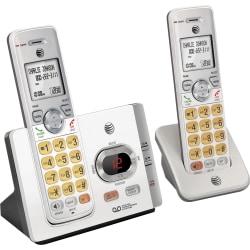 AT&T EL52315 DECT 6.0 Cordless Phone - Silver, Black - Cordless - 1 x Phone Line - 3 x Handset - Speakerphone - Answering Machine