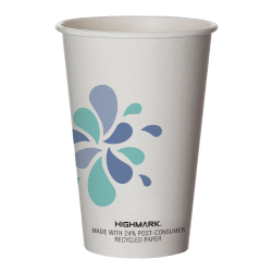 Highmark® Hot Coffee Cups, 16 Oz, White, Pack Of 500