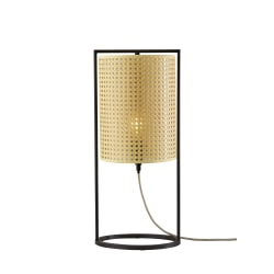 """Adesso® Tall Fern Table Lantern, 22-1/4""""H, Natural Shade/Antique Bronze Base"""