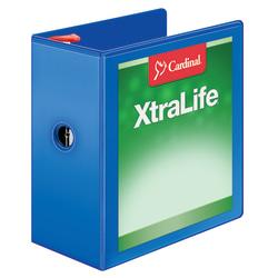 "Cardinal® XtraLife™ Locking Slant-D® Ring 3-Ring Binder, 5"" D-Rings, 55% Recycled, Blue"
