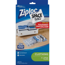 Ziploc® Clothing Space Bag - Jumbo Size - Clear - 9/Carton - Cloth