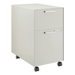 "HON® Fuse Collection 23-1/4""D 2-Drawer Letter-Size Metal Mobile Vertical Box/File Pedestal, Large, Loft"
