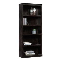 "Realspace® 72""H 5-Shelf Bookcase, Peppered Black"