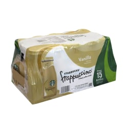 Starbucks® Vanilla Frappuccino Coffee Drinks, 9.5 Oz, Case Of 15 Bottles