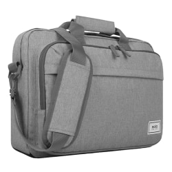 """Solo New York Re:New Briefcase With 15.6"""" Laptop Pocket, 51% Recycled, Gray"""