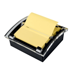 """Post-it® Notes Pop-Up Note Dispenser, 3"""" x 3"""", Black/Clear"""