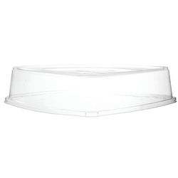 """Eco-Products Regalia Sugarcane Tray Lids, 16"""" x 16"""", Clear, Pack Of 50 Lids"""