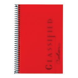 "TOPS® Classified™ Colors Business Notebook, 5 1/2"" x 8 1/2"", 1 Subject, Narrow Ruled, 100 Sheets, Ruby Red Cover"