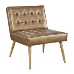 Office Star™ Avenue Six Amity Tufted Accent Chair, Sizzle Copper/Light Brown/Gold