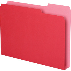 """Pendaflex Double Stuff 1/3 Tab Cut Letter Top Tab File Folder - 8 1/2"""" x 11"""" - 250 Sheet Capacity - 1 1/2"""" Expansion - Assorted Position Tab Position - Red - 50 / Pack"""