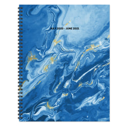 """TF Publishing Large Academic Weekly/Monthly Planner, 8-1/2"""" x 11"""", Blue Marble, July 2020 To June 2021"""