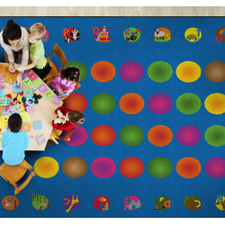 """Flagship Carpets Circle Time Learning Rug, Rectangle, 10' 9"""" x 13' 2"""", Multicolor"""