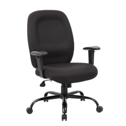 Boss Office Products Heavy-Duty Fabric Task Chair, Black