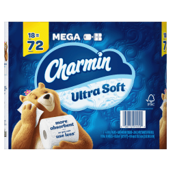 Charmin® Ultra Soft® 2-Ply Toilet Paper, 264 Sheets Per Roll, Pack Of 18 Rolls