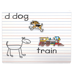 """Playmonster Lined Magnetic Dry-Erase Boards, 9"""" x 12"""", White, Pack Of 3"""
