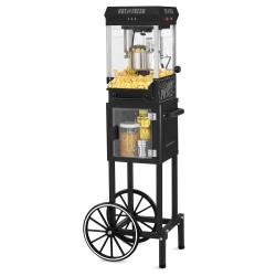 Nostalgia Electrics Vintage Popcorn Cart, Black