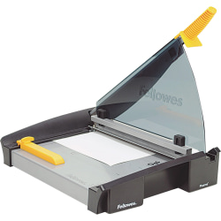 "Fellowes® Plasma Guillotine Paper Cutter, 15"", Black/Silver"