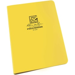"Rite In The Rain All-Weather 6-Ring Binder, 1/2"" Round Rings, Yellow, Pack Of 5"