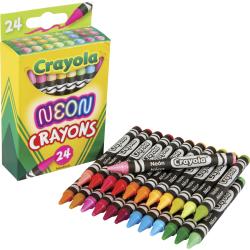 Crayola Neon Crayons - Neon - 24 / Pack