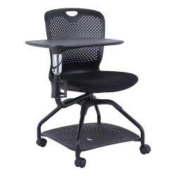 Lorell® Mobile Student Training Chair, Black