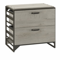 Bush Furniture Refinery 2-Drawer Lateral File Cabinet, Cottage White, Standard Delivery